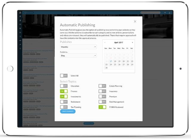 Advisor Websites Force - Auto-Publish Content