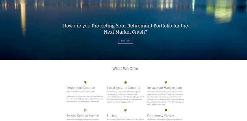 good looking website design example
