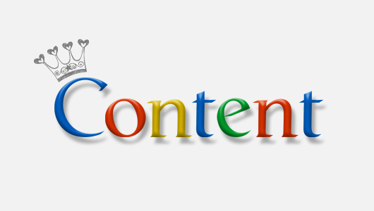 Google content is king