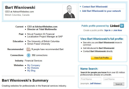 Bart Wisniowski LinkedIn Profile