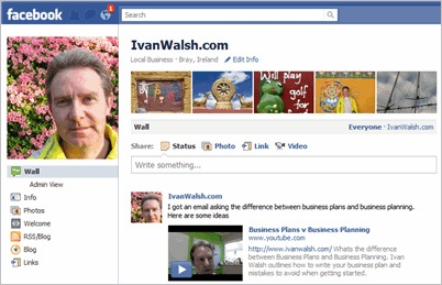 Facebook Page example