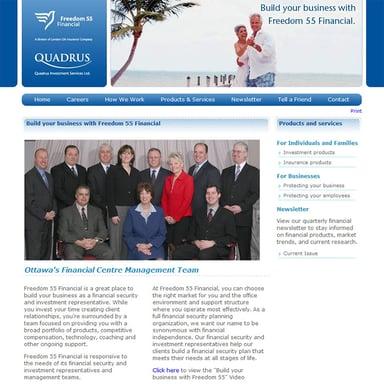 Freedom 55 Financial Ottawa Website Front