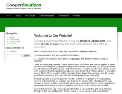 Advisor Websites Approved Vendor: Cowper Solutions