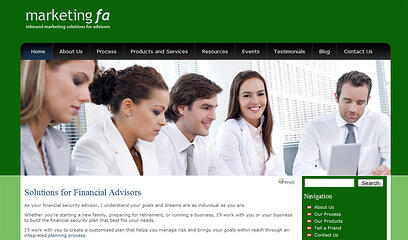 advisor websites custom template