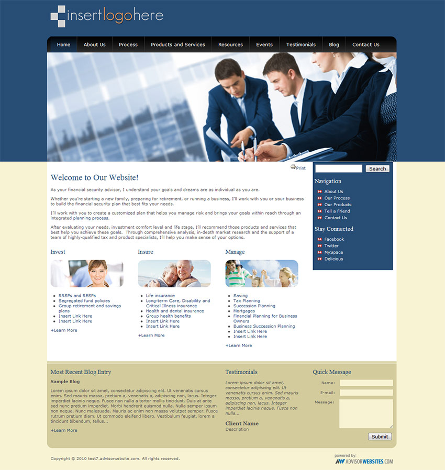 advisor websites financial template home