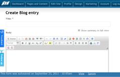 Advisor Websites - Auto-save functionality - screen 1