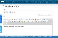 Advisor Websites - Auto-save functionality - screen 2