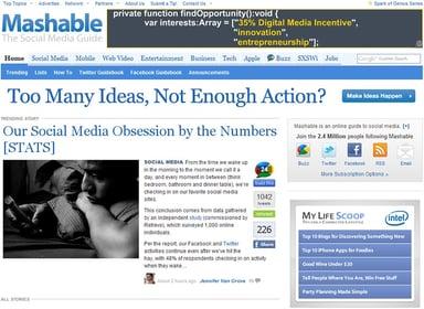 Mashable banner sample