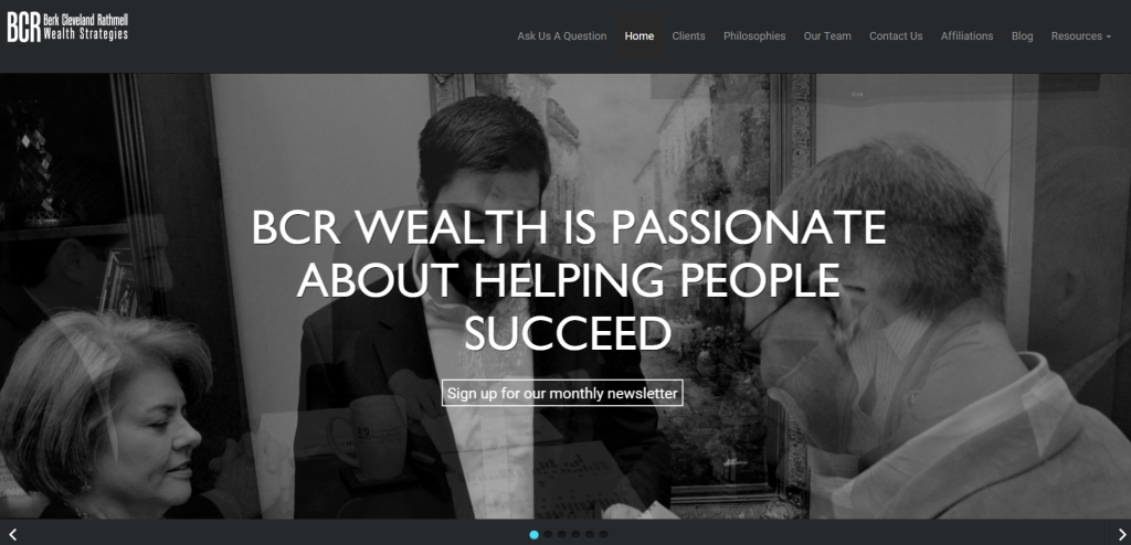 best financial site templates