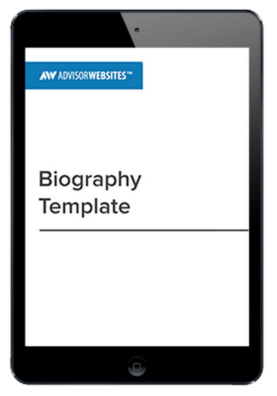 Financial Advisor Biography template