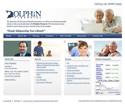 Dolphin Financial website sample