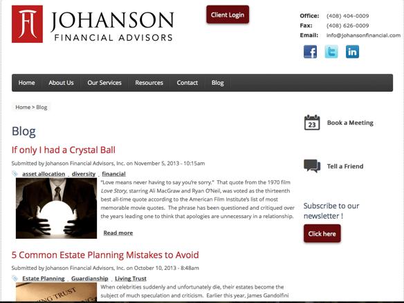 johanson blog