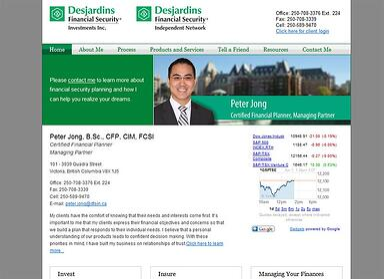 peter jong desjardins financial advisor website