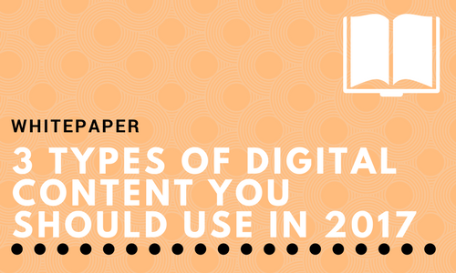 3 Types of Digital Content You Should Use in 2017