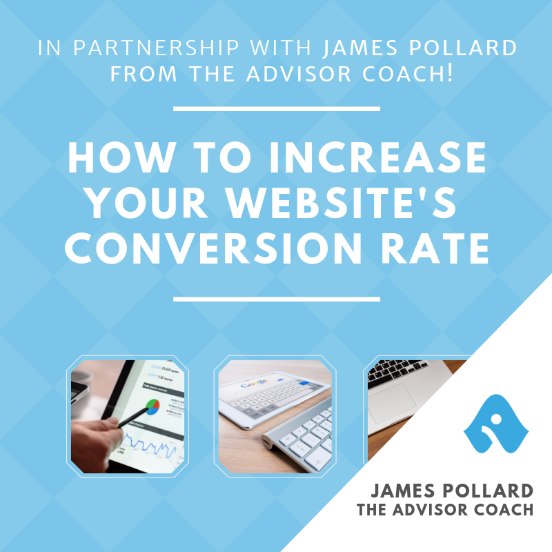 Webinar - How to increase your website's conversion rates - Landing pg