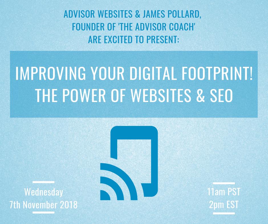 Webinar - Improving your digital footprint