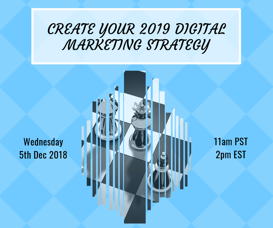 Webinar Create your 2019 digital marketing strategy