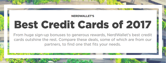 NerdWallet's best Credit Cards of 2017.
