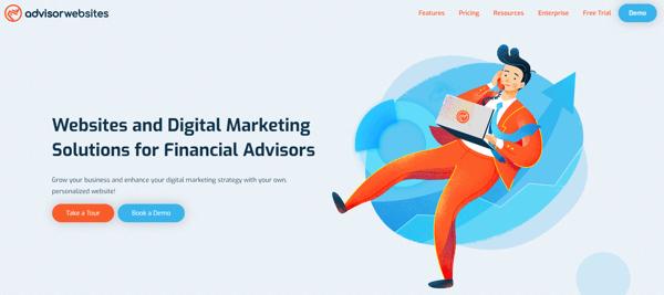 Advisor Websites Homepage