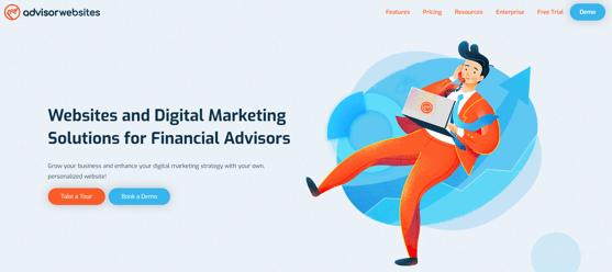 Advisor Websites Home Page