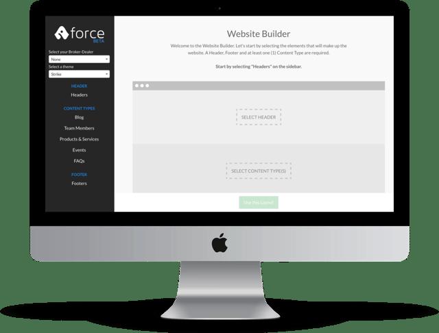 Advisor Websites Force website builder