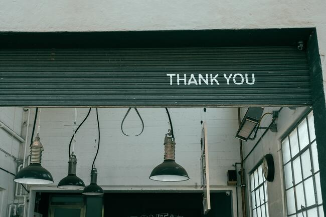 saying thank you is a good practice in business