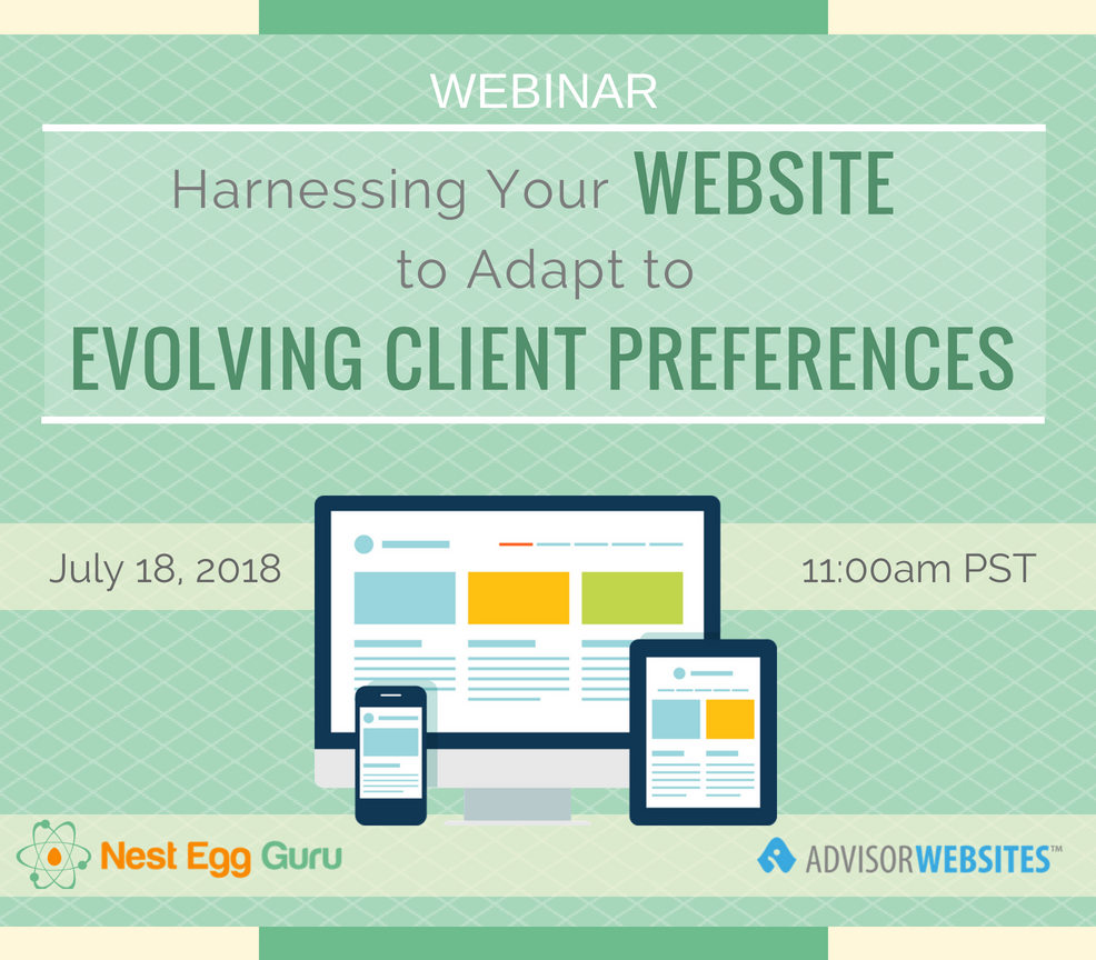 Webinar - July 2018 - Nest Egg Guru promo image
