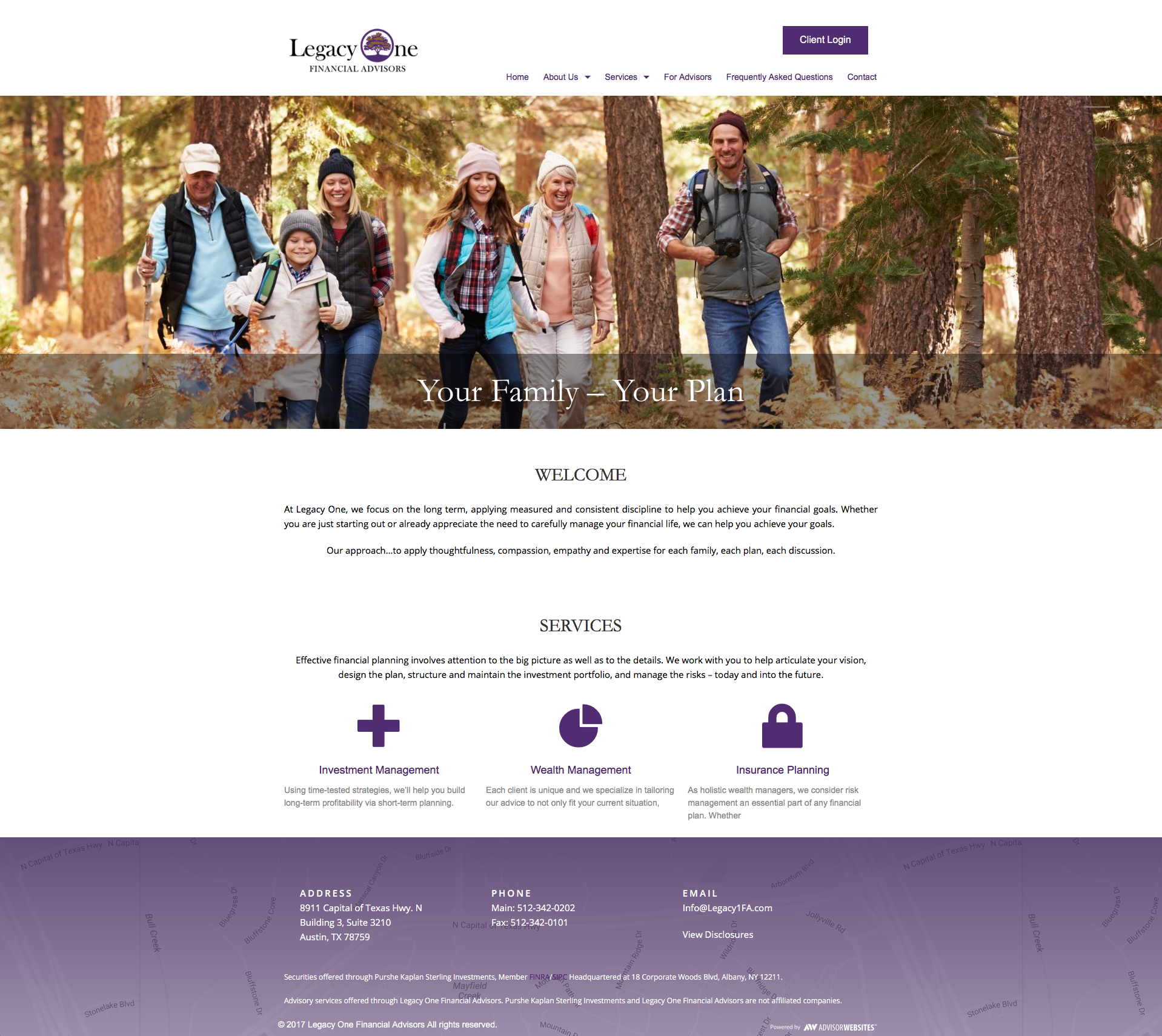 Gallery Examples of websites for Financial Advisors