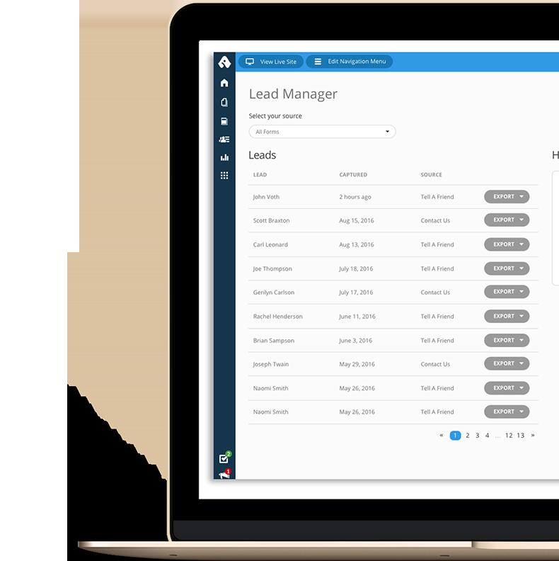 financial planning website lead generation